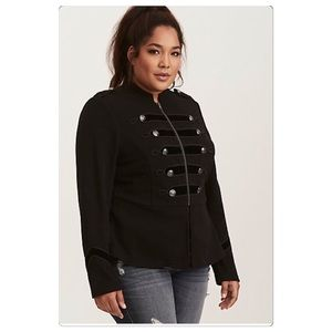 NWT plus size military jacket in black